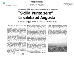 Quotidiano di Sicilia 19 Marzo 2015